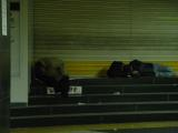 homeless people in the station